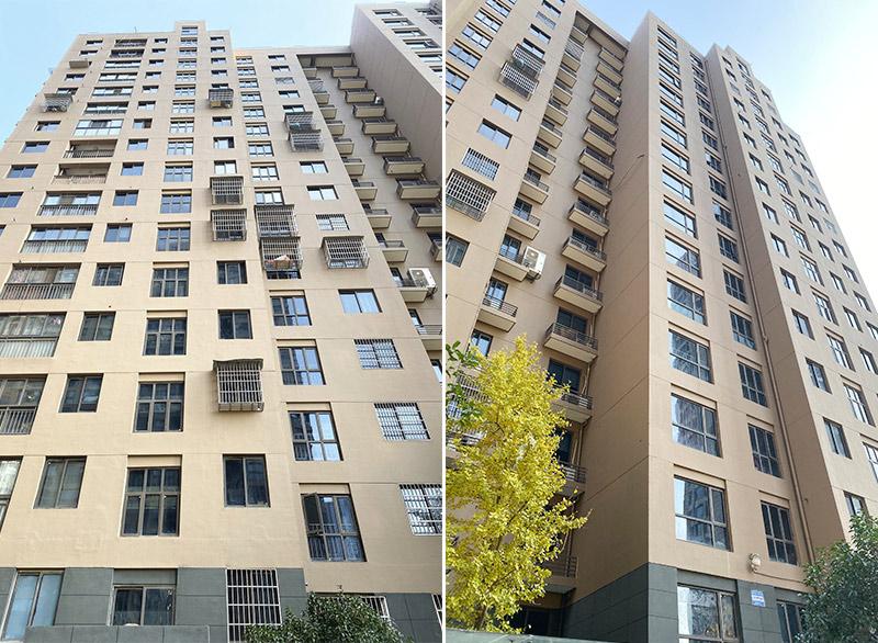 杭州某小区使用蓝盾无机保温涂料进行房屋外墙修复-修复后