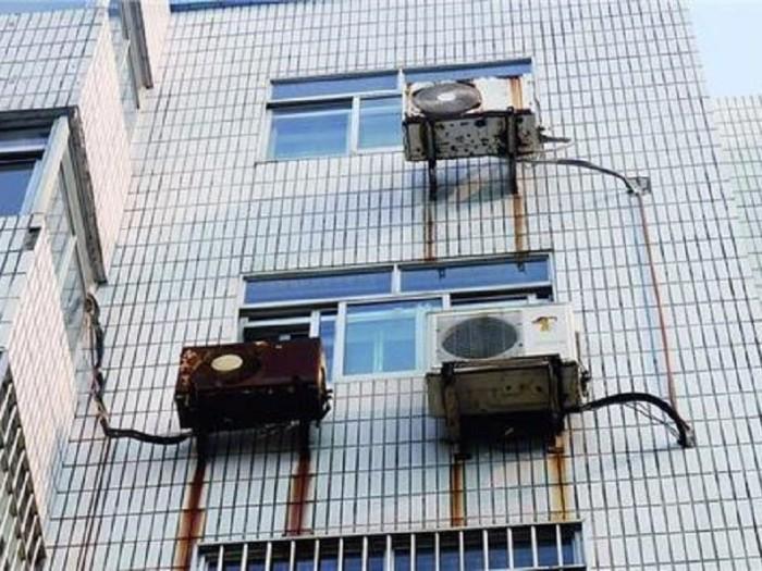 空调外机处渗漏问题
