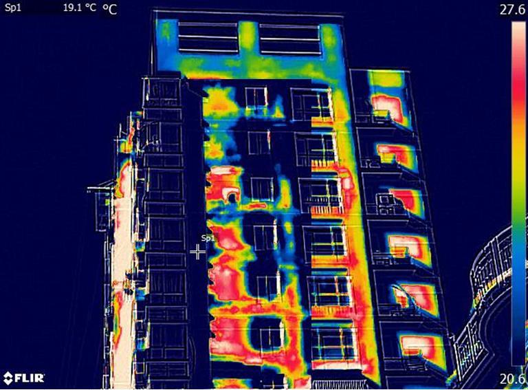 红外热像法检测外墙渗漏情况